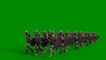 死亡军队走过来绿幕视频素材