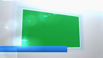 简洁的企业展示绿幕抠图