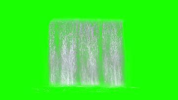 水幕瀑布流正面分散绿幕视频
