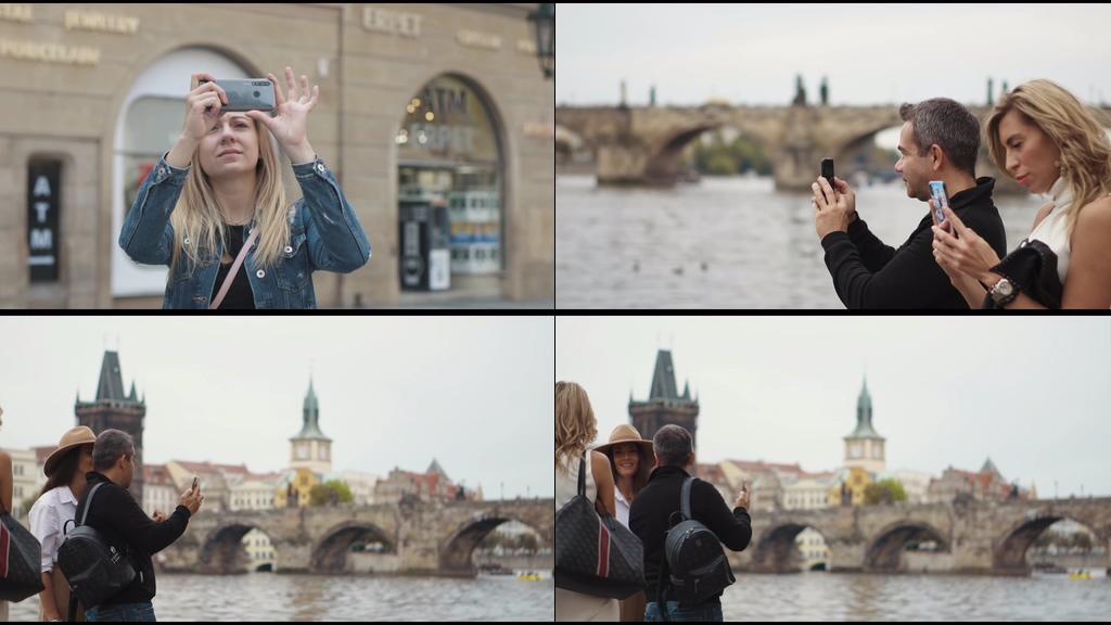 4K用智能手机拍照的人
