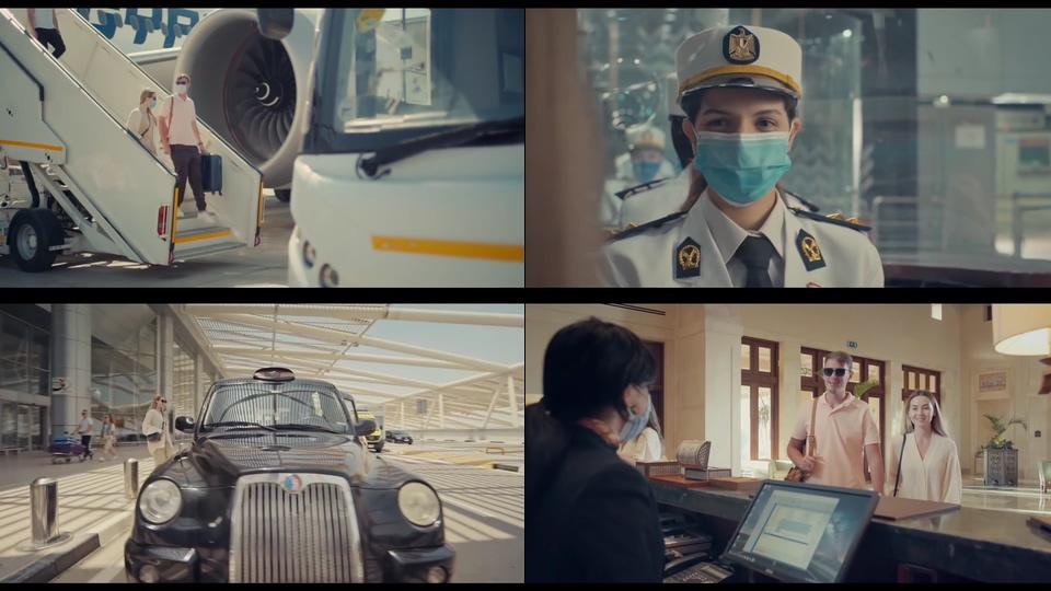 情侣降落埃及机场入住酒店