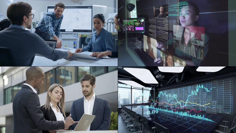商务职场办公一组2021视频素材