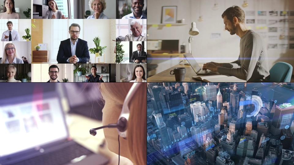 移动手机办公商务视频素材