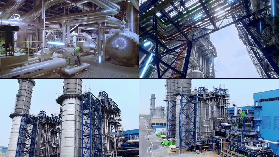 能源公司工厂视频素材