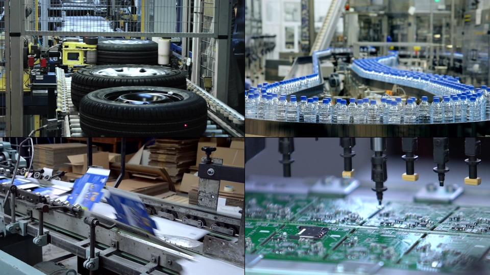 工业工厂生成流水线视频素材