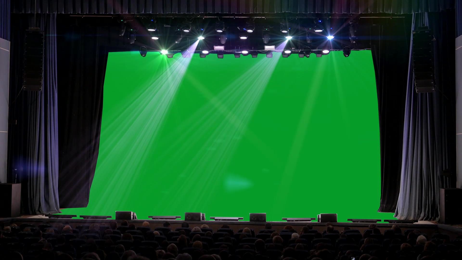 舞台上的巨幕抠图视频素材