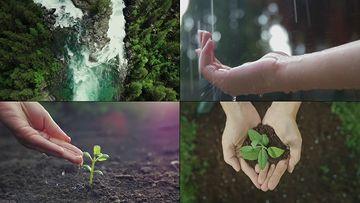 宣传片实用浇树企业成长片尾视频素材