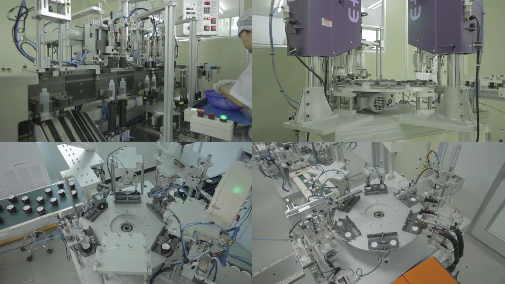 化妆品生产线视频素材