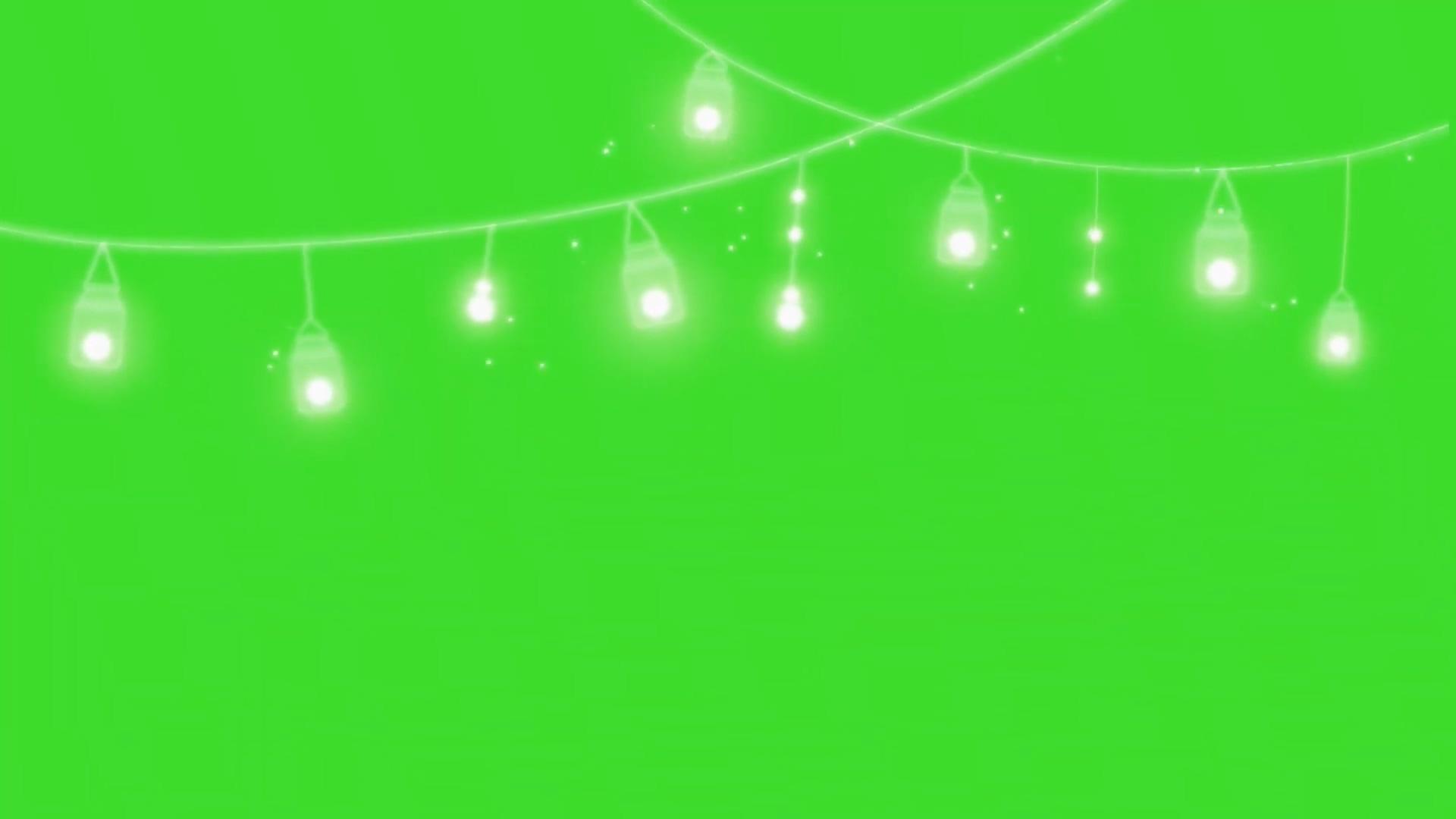 摇晃的精灵灯绿幕视频