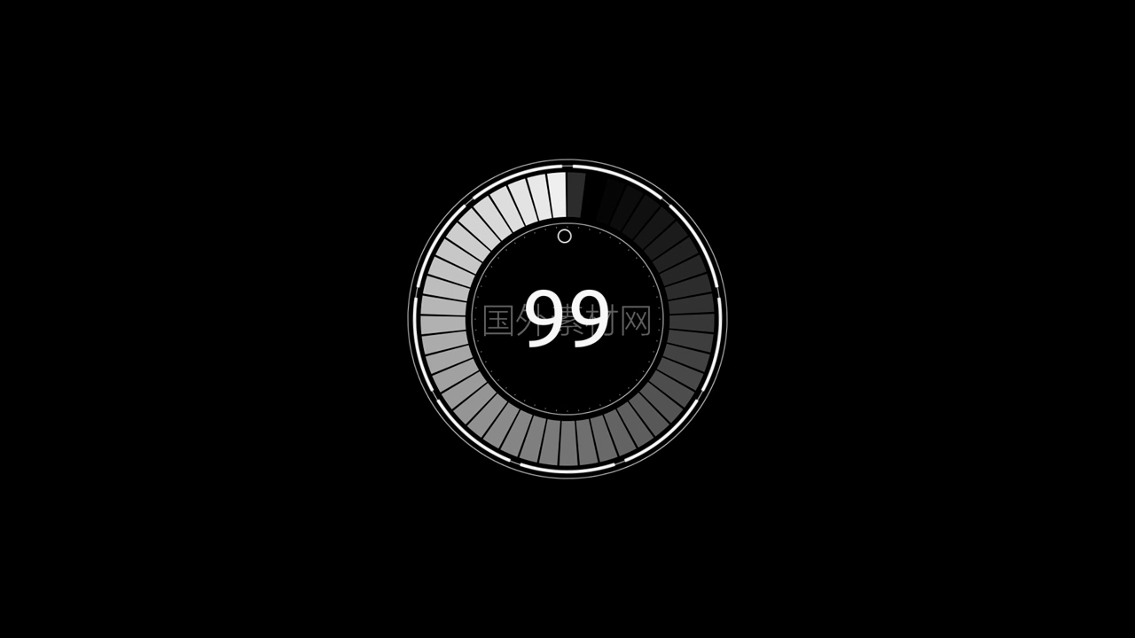 HUD圆形加载100视频素材