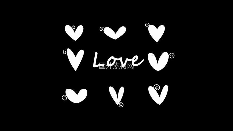 手绘love视频素材