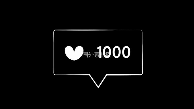手绘点赞1000视频素材