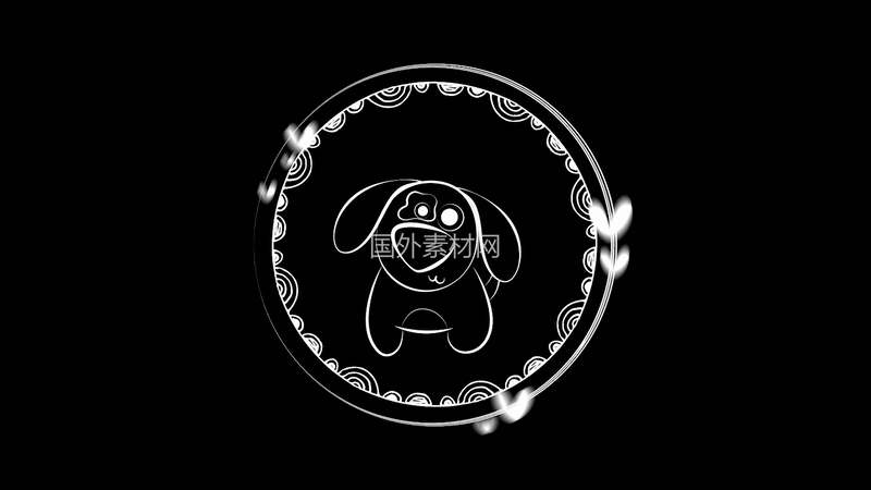 手绘狗视频素材