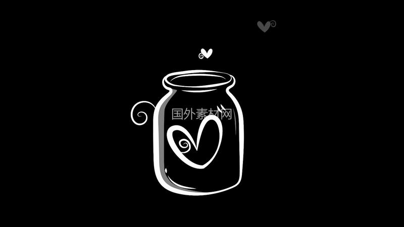漂流瓶里的心异地恋视频素材