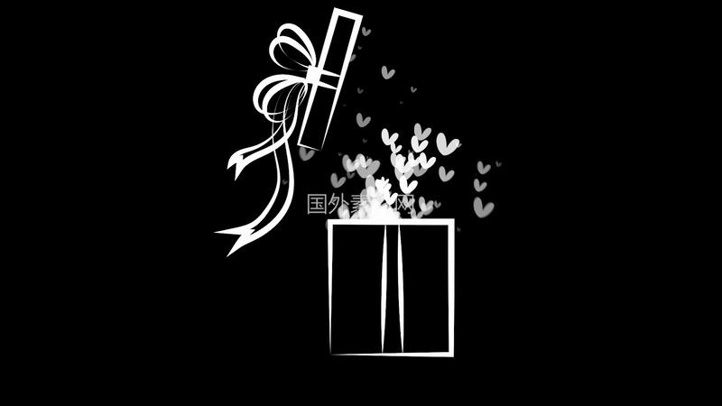 礼物手绘视频素材