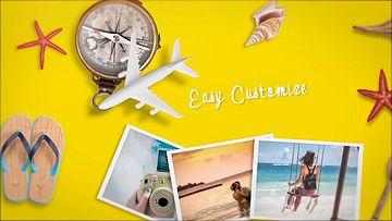 夏季旅行幻灯片放映AE模板