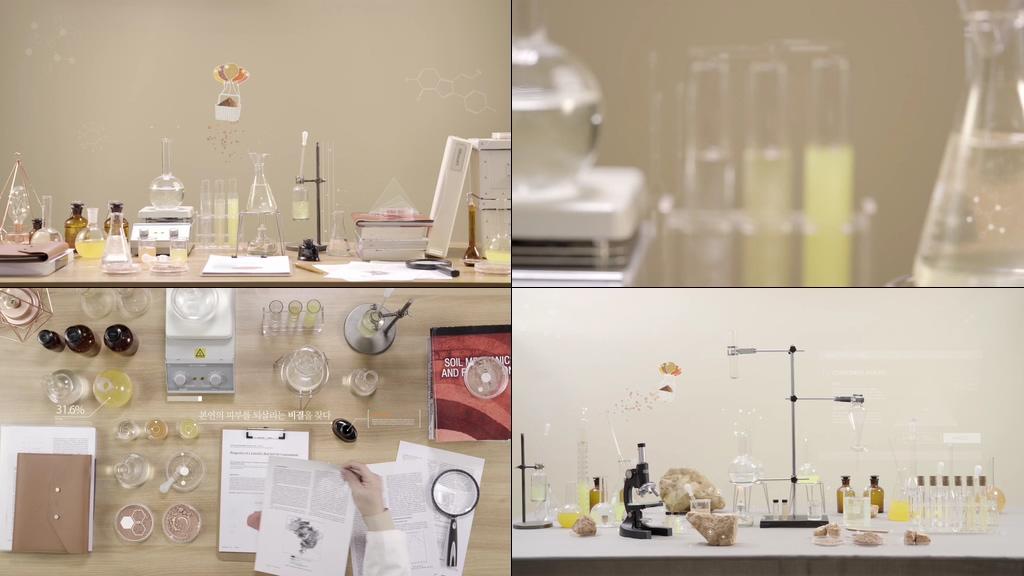 矿物质提炼研究视频素材