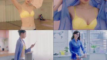 内衣广告行走中的美女视频素材