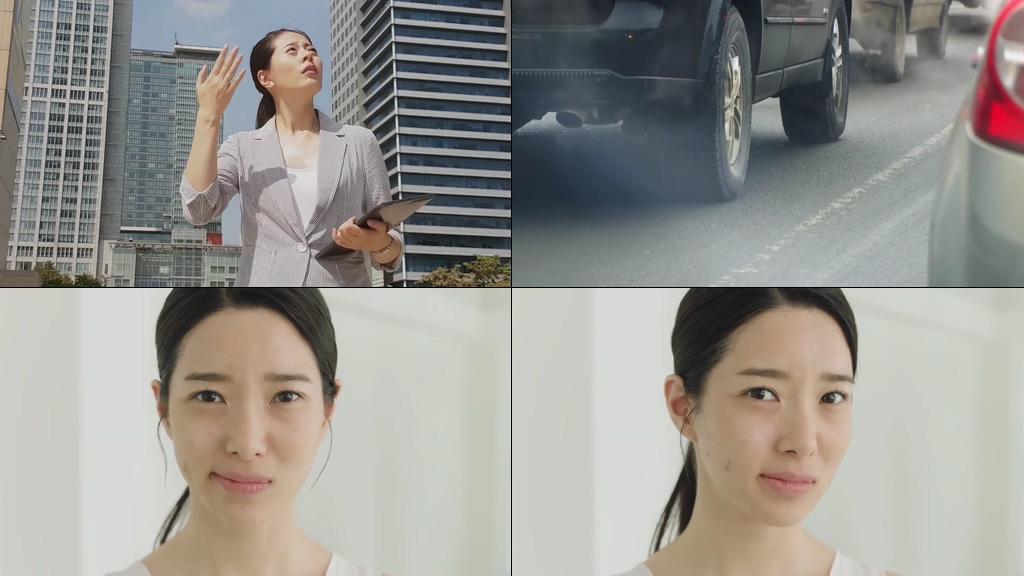 环境污染造成的肌肤问题视频素材