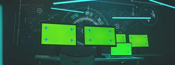 4K高科技电脑屏幕抠图视频素材