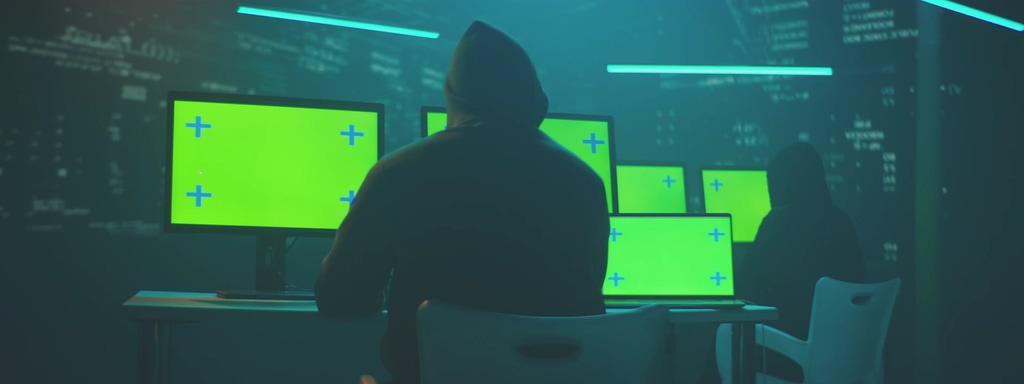 4K-Hacker绿幕抠图视频素材