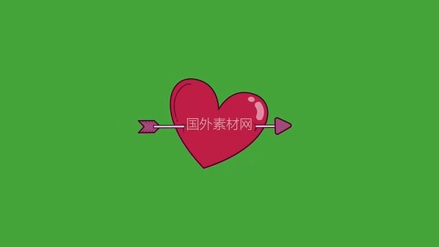 情人节婚礼实用绿幕视频素材