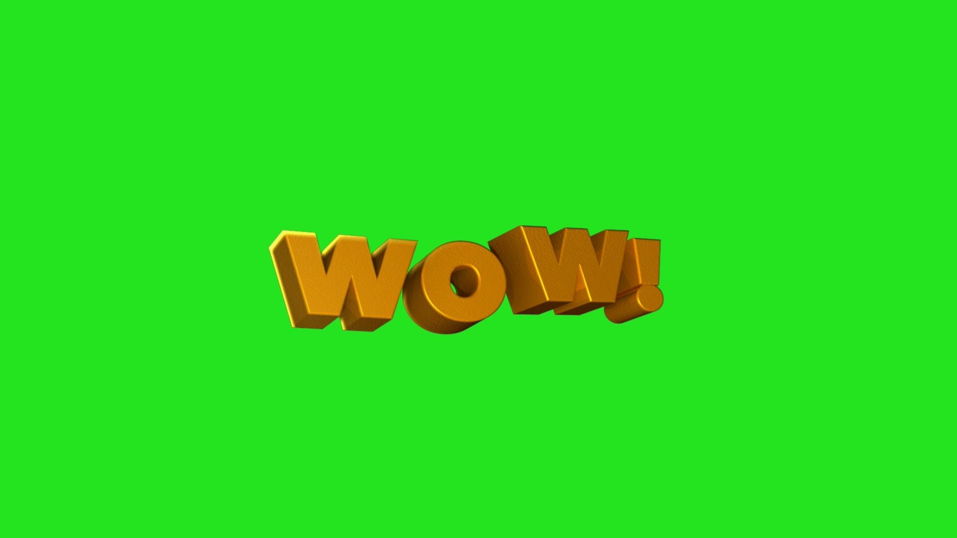 wow-amazing绿幕视频素材