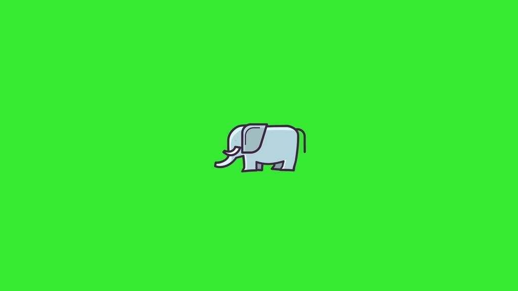 行走中的大象循环视频素材绿幕