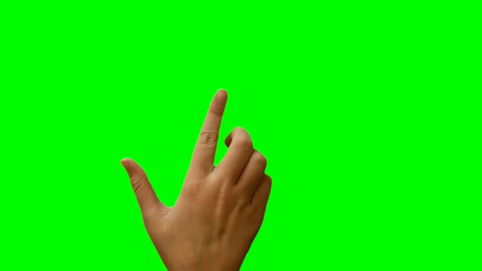 手势绿幕抠图视频素材