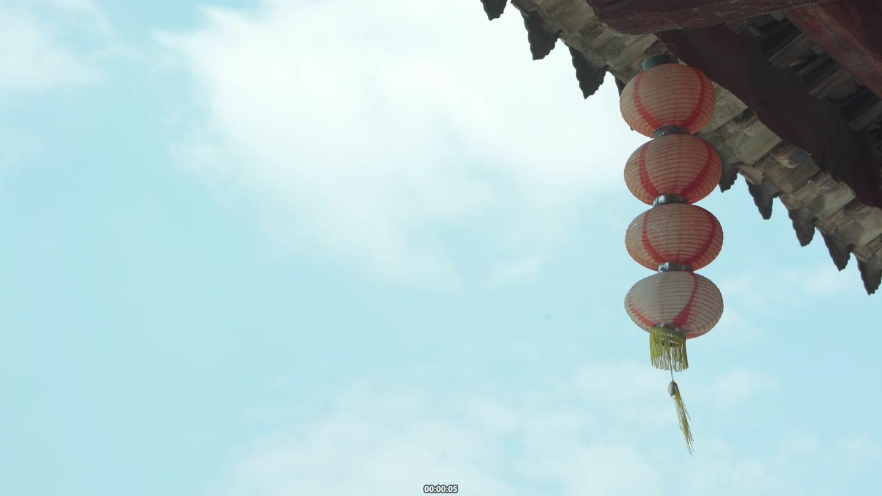 中国历史痕迹摇摆的灯笼