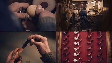 制作烟斗的工匠视频素材