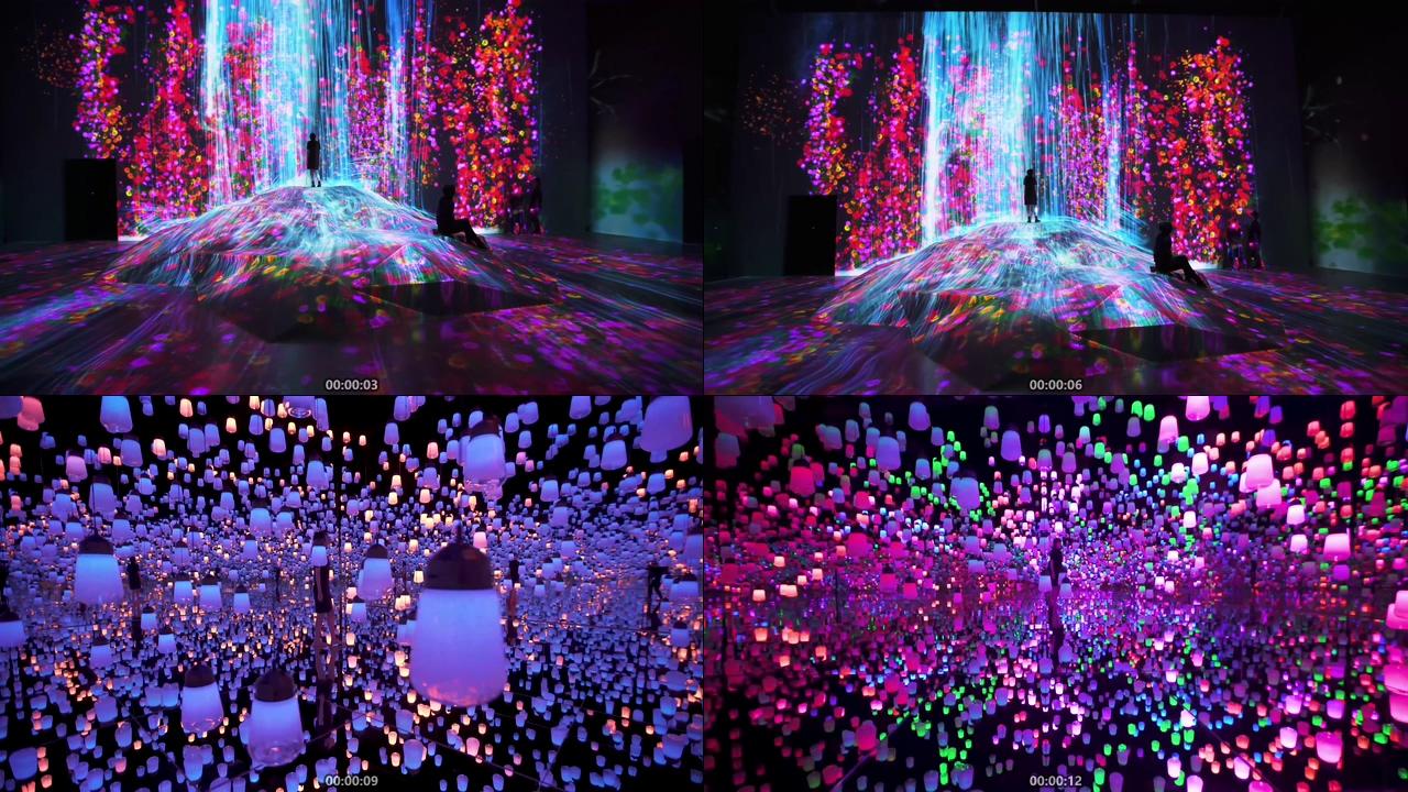 3D全息投影网红拍照打卡视频素材