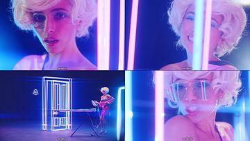 创意灯光粉色美女视频素材