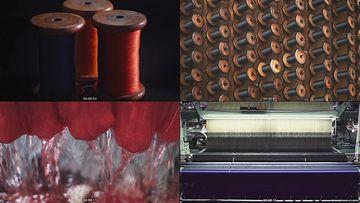 蚕丝纺织视频素材