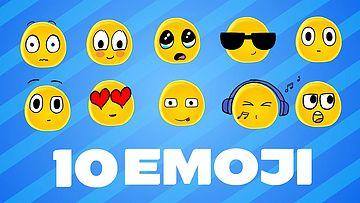 10种不同的表情包AE模板下载
