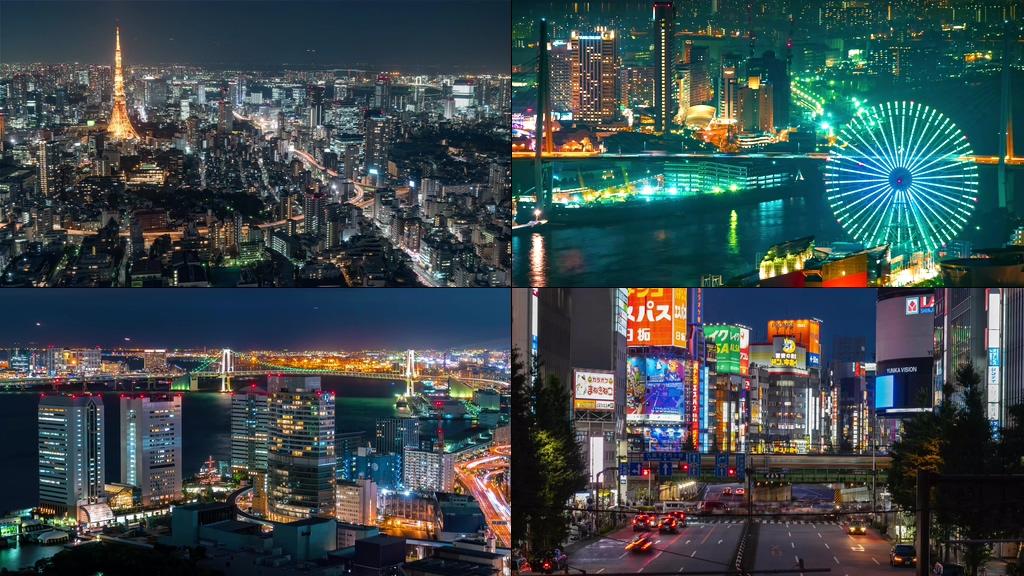 4K日本东京标志建筑视频素材