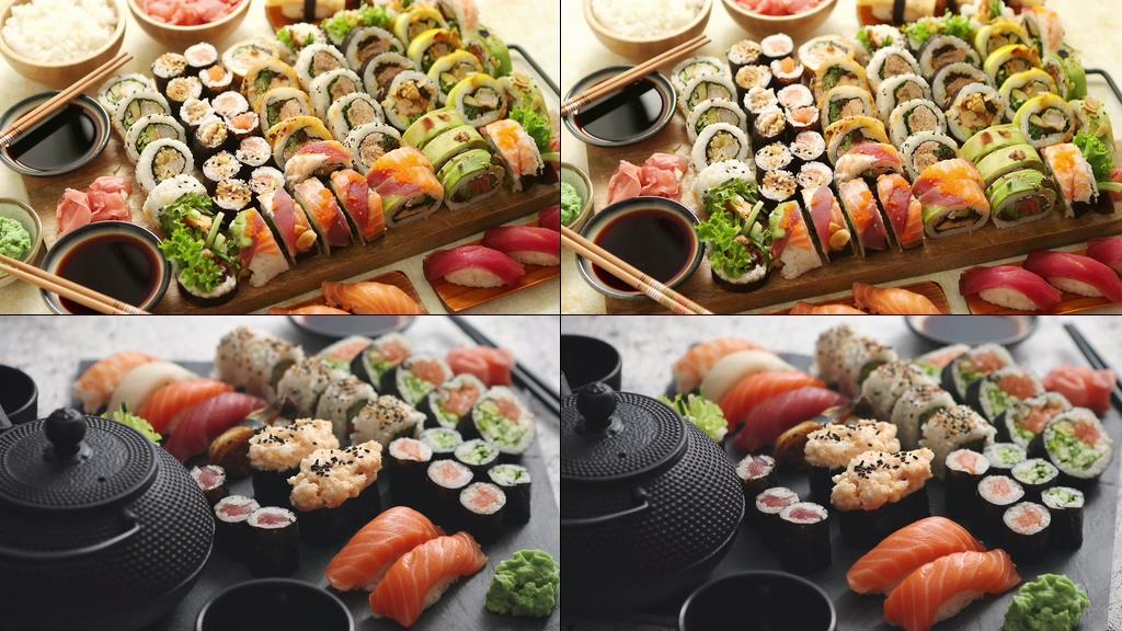 4K日本美食寿司视频素材