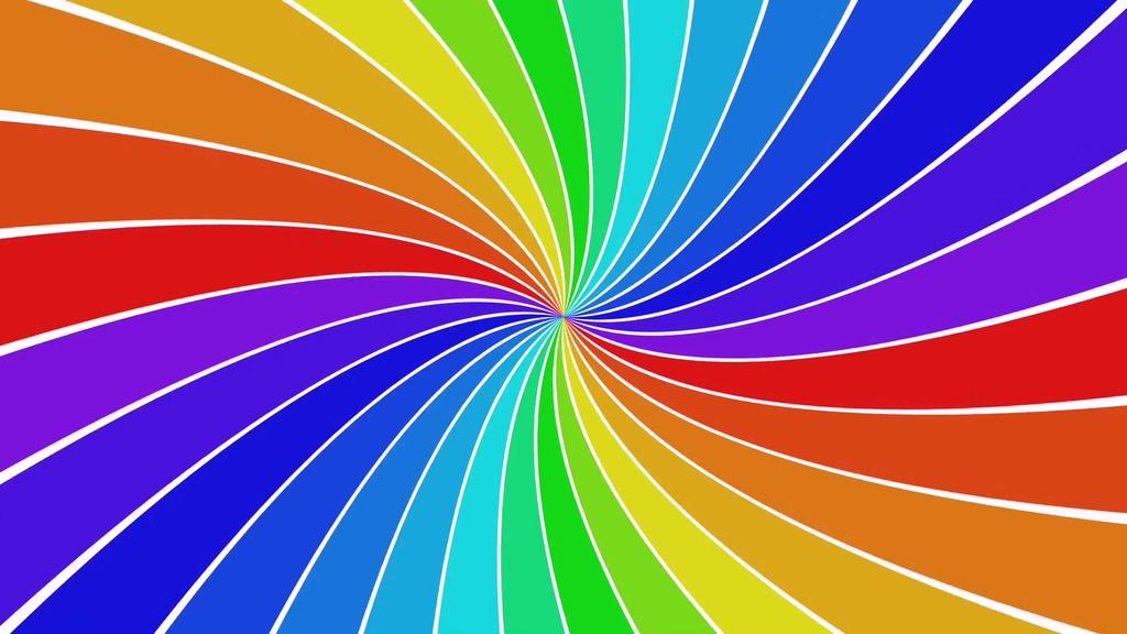 彩色旋转漩涡背景视频
