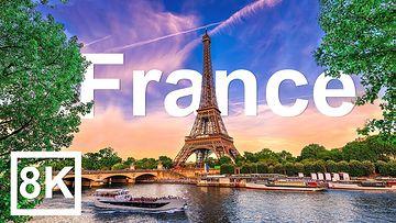 8K超清法国视频素材-游客访问最多的国家 (60 FPS)