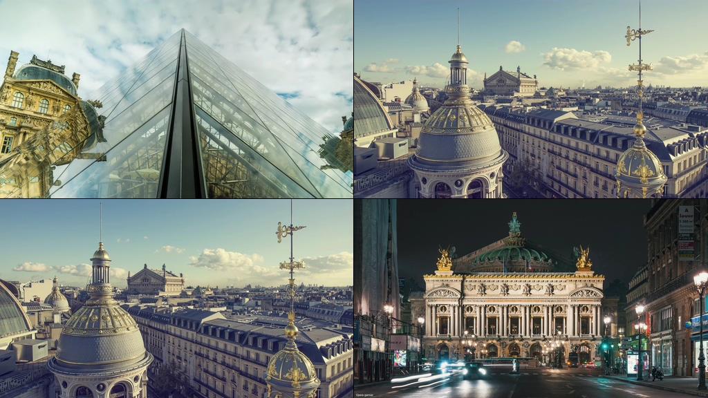超清60帧法国巴黎圣母院视频素材
