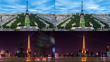 4K超清法国埃菲尔铁塔视频素材