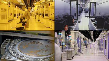 4K芯片研发公司内部视频素材