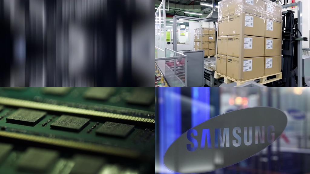 4k三星手机生产线视频素材