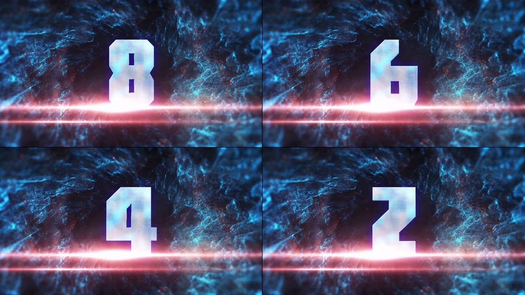 4K大气震撼漩涡十秒倒计时视频素材