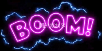 Boom霓虹灯闪烁vfx视频素材