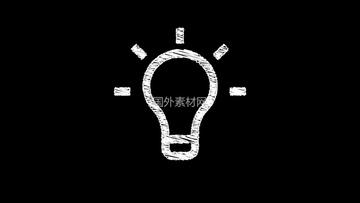 Idea灯泡手绘vfx视频素材样式2