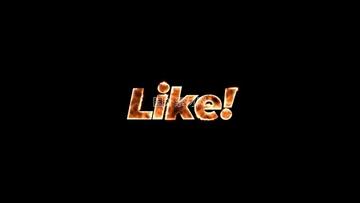 LIKE喜欢火样式视频素材