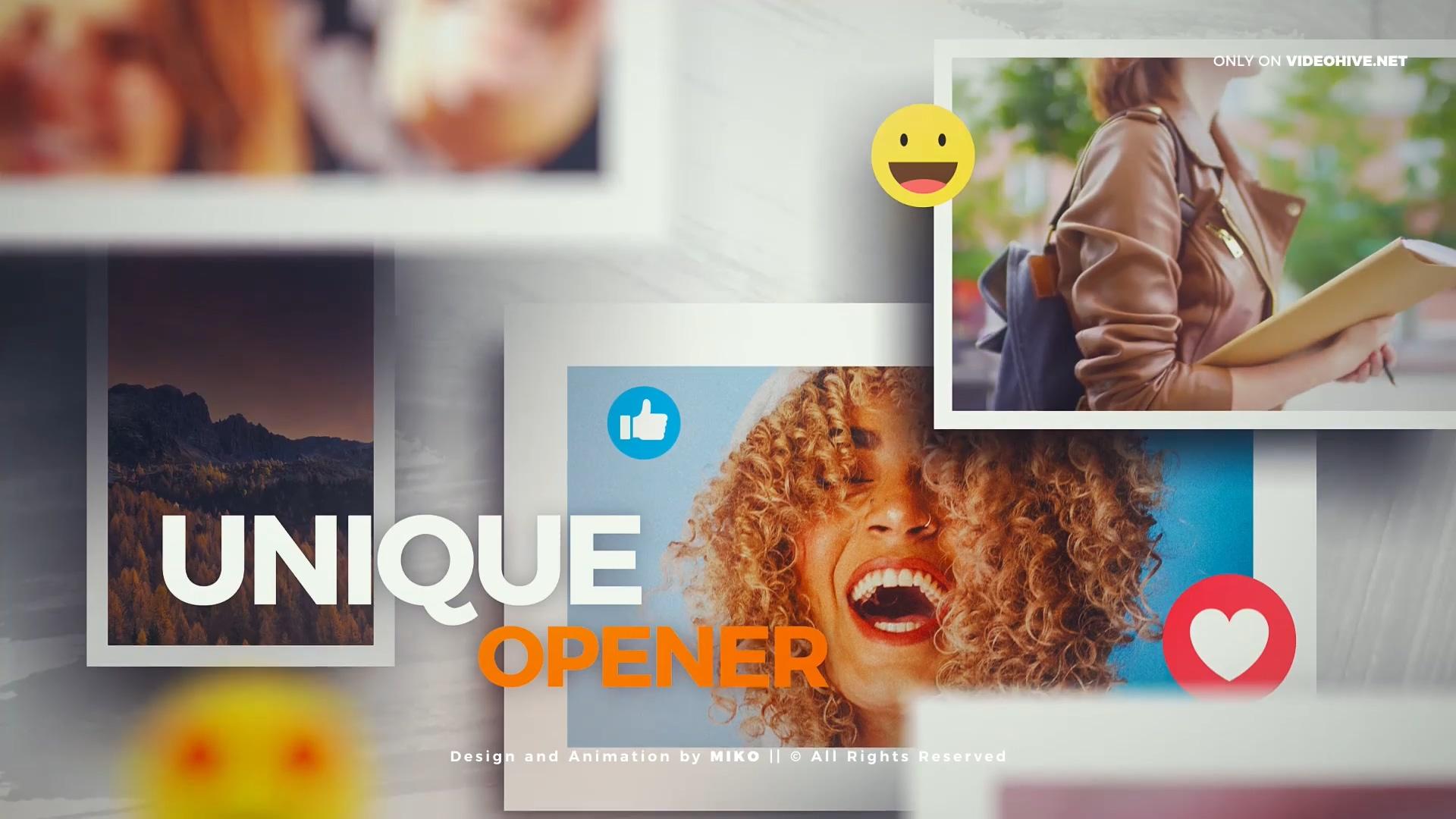 社交表情包幻灯片AE模板
