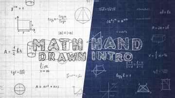 数学手绘介绍AE模板