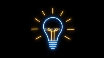 彩色灯泡闪烁vfx视频素材